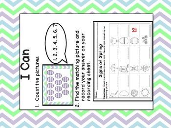 Easter/Spring Kindergarten Math Centers