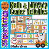 SPRING MATH and LITERACY CENTERS Spring Activities Task Ca