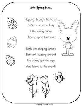 Easter/Spring Poem pack & mini unit
