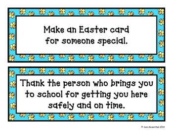 Easter/Spring Random Acts of Kindness
