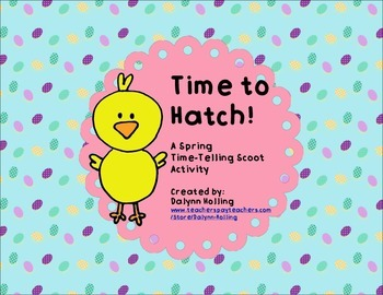 Easter/Spring Time-Telling Scoot Activity