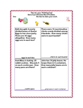 EasterThemed Worksheets Multiplication and Division Practice 1-10 Tables
