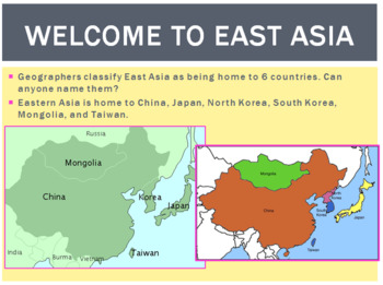 Eastern Asia Geography