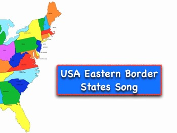 Eastern Border USA States Song + Test Video/Movie mp4 by Kathy Troxel