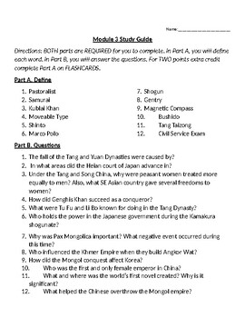 Eastern Empires Study Guide