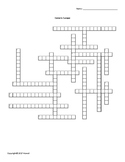 Eastern Europe Vocabulary Crossword for Middle School Geography