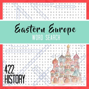 Eastern Europe Word Search