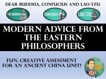 Dear Buddha, Confucius, Lao-Tzu  Modern Advice Column - Ancient China