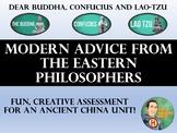 Dear Buddha, Confucius, Lao-Tzu  Modern Advice Column - An
