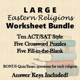 Eastern Religions (Hinduism, Buddhism, Daoism, etc) BIG Worksheet Bundle