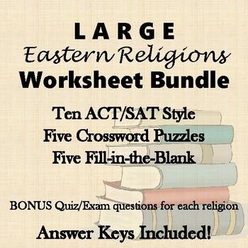 Eastern Religions Hinduism Buddhism Daoism Etc Big Worksheet