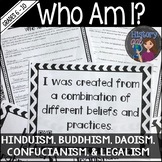 Who Am I? Hinduism, Buddhism, Confucianism, Daoism, Legalism Activity {QR Codes}