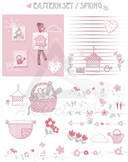 Eastern Set Clip Art for board, notes, scrapbook or notemos