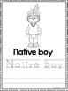 Eastern Woodlands Native Americans Coloring Book worksheets.  Preschool-2nd Grad