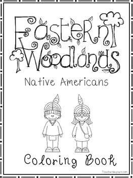 Eastern Woodlands Native Americans Coloring Book worksheet