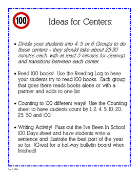 Easy 100th Day Activities!