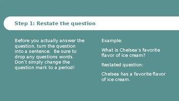 Easy 3 Step Guide to Text Dependent Questions/ Short Answer Questions
