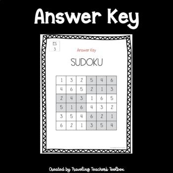 Easy 6x6 Sudoku Puzzles