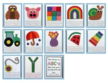 Easy Alphabet Interactive Notebook