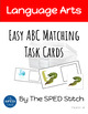 Easy ABC Matching Task Cards