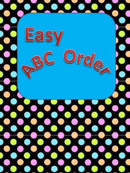 Easy ABC Order for Primary Students