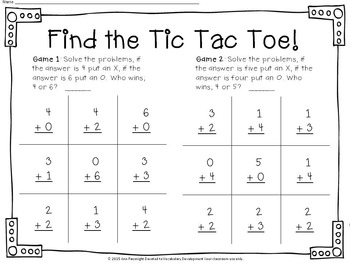 Easy Addition: Find the Tic Tac Toe