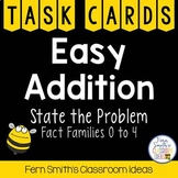 Easy Addition Spring Task Cards - State the Problem for th