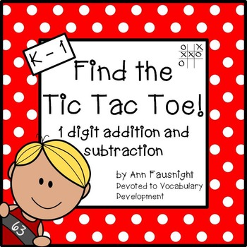 Easy Addition and Subtraction: Find the Tic Tac Toe