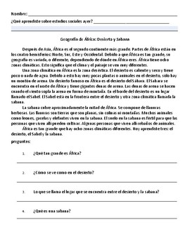 Easy Africa Summaries - In Spanish