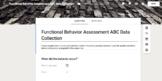 Easy Antecedent Behavior Consequence Data Collection Googl