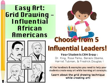 Easy Art: Grid Drawing Influential African Americans