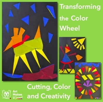 Easy Art Lesson Cutting and the Color Wheel