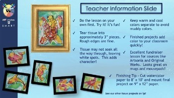 Easy Art Lesson Directed Draw and Watercolor Turtle Powerpoint