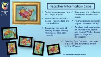 Easy Art Lesson Directed Draw and Watercolor Whale Powerpoint