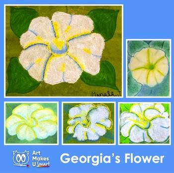 Easy Art Lesson - Georgia's Flower Chalk Pastel Powerpoint