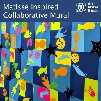Easy Art Lesson Matisse Inspired Collaborative Sea Life Collage Mural
