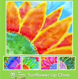 Easy Art Project Digital Lesson Plan Sunflower with Scienc