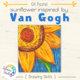 Easy Art Lesson - Van Gogh Sunflower with Oil Pastel
