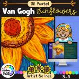 Easy Art Lesson Van Gogh Sunflower Oil Pastel Powerpoint