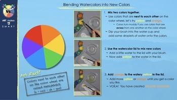 Easy Art Lesson - Watercolor and Collage Landform Landscape Powerpoint