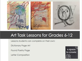Easy Art Lessons for Grades 6-12 - Sub Plan Packet