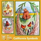 Easy Art Project Digital Lesson Plan Directed Draw California State Symbols