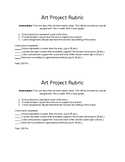 Easy Art Project Rubric (Any Story)