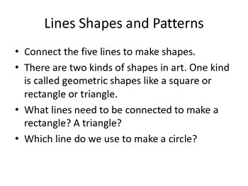 Lines Shapes and Patterns for back to school