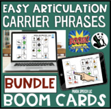 Easy Articulation Carrier Phrases BOOM Cards: BUNDLE Digit