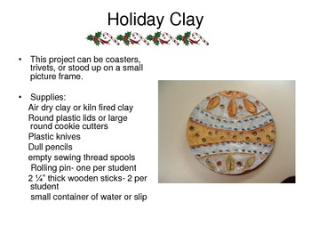 Easy Christmas Holiday Clay Art Projects