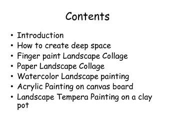 Easy Artsy Landscapes Galore