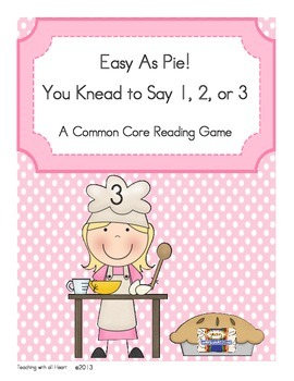 Easy As Pie!  You to Knead to Say 1, 2, or 3