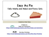 Easy As Pie tally mark and nickel and penny counting and match