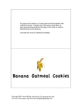 Easy Banana Cookie Recipe Cards